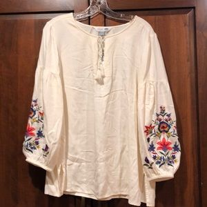 Old navy tunic hobo embroidered medium shirt NWT
